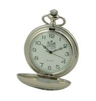 Sailing Yacht Boat Enthusiasts Half Hunter Quartz Pocket Watch with Pewter Cover